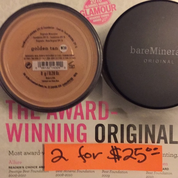 bareMinerals Other - Bare Mineral Foundation Golden Tan
